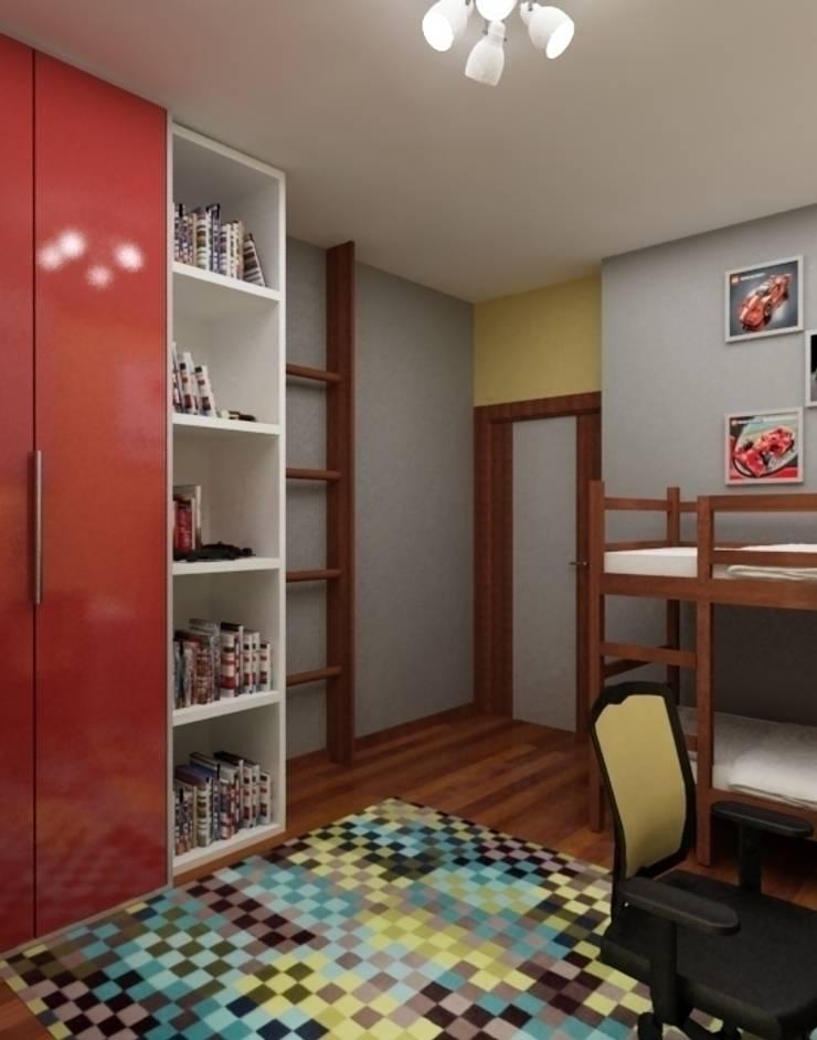 młodzieżowy: styl , w kategorii Pokój dziecięcy zaprojektowany przez ZAWICKA-ID Projektowanie wnętrz,Minimalistyczny