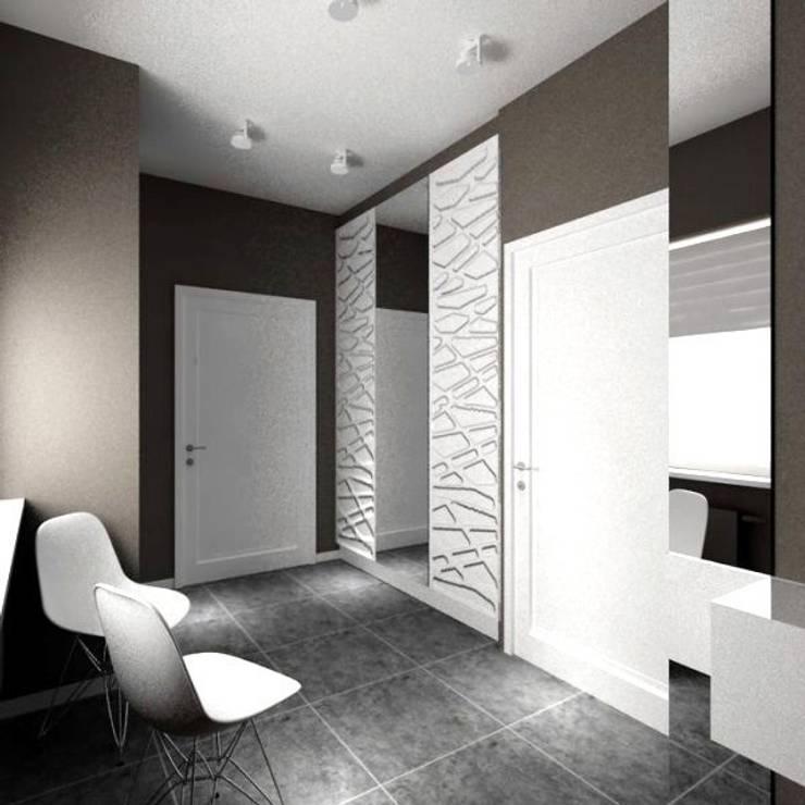 wiatrołap w domu: styl , w kategorii Korytarz, przedpokój zaprojektowany przez ZAWICKA-ID Projektowanie wnętrz