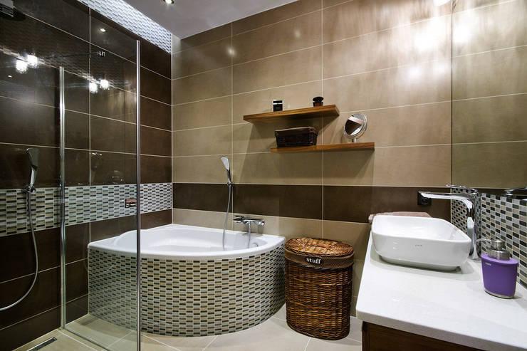 Mieszkanie na Mokotowie: styl , w kategorii Łazienka zaprojektowany przez ZAWICKA-ID Projektowanie wnętrz