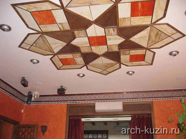 Коттедж под Троицком: Медиа комнаты в . Автор – Архитектор Михаил Кузин