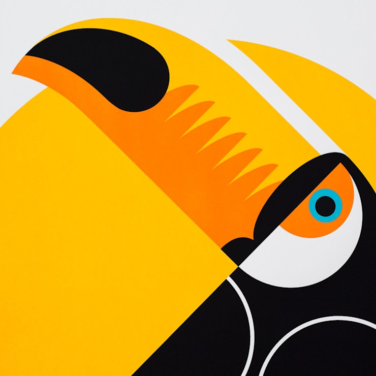 Toucan Screen print:  Artwork by The Lost Fox