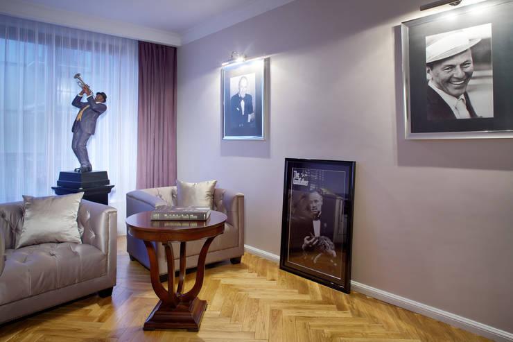 Słoneczny Mokotów: styl , w kategorii Pokój multimedialny zaprojektowany przez RS Studio Projektowe Roland Stańczyk