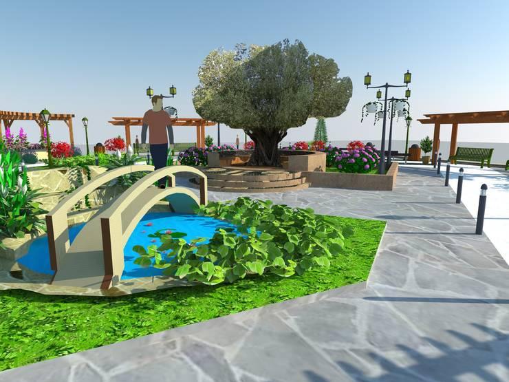 DETAY MİMARLIK MÜHENDİSLİK İÇ MİMARLIK İNŞAAT TAAH. SAN. ve TİC. LTD. ŞTİ. – Park Bahçe Tasarım Projesi: klasik tarz tarz Bahçe
