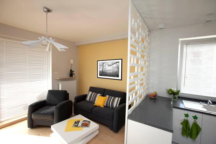 Mieszkanie dla Pani Doktor: styl , w kategorii Salon zaprojektowany przez ZAWICKA-ID Projektowanie wnętrz