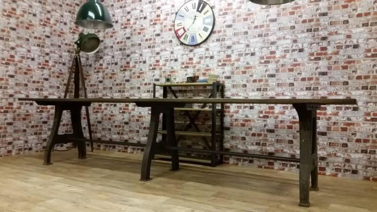 Large Dining Table:  Dining room by V I Metal Ltd