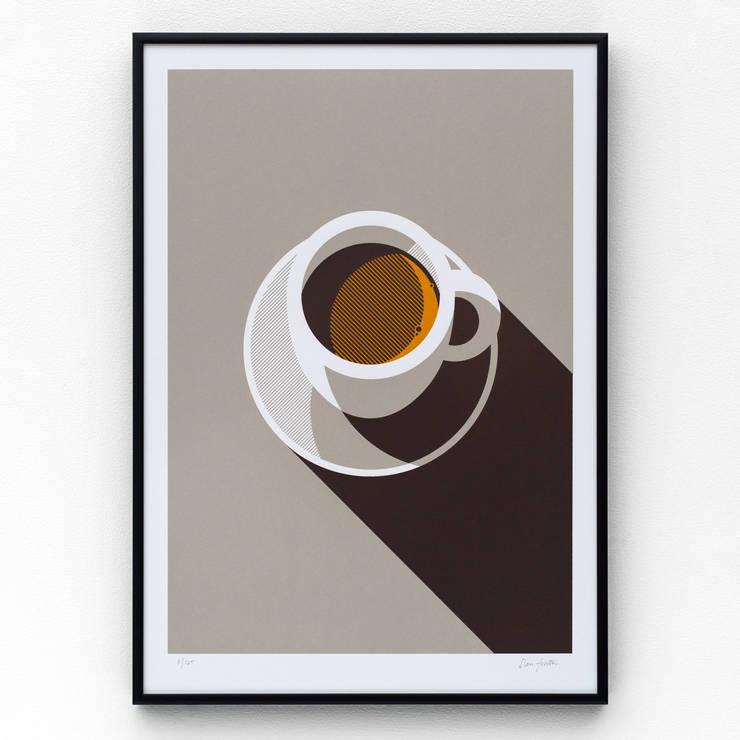 Espresso screen print:  Artwork by The Lost Fox