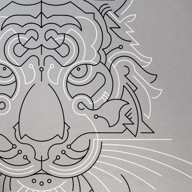Tiger A2 screen print:  Artwork by The Lost Fox