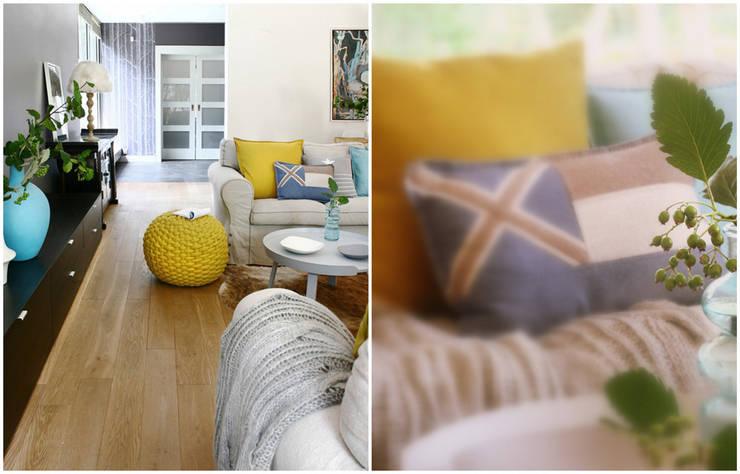 Dom pod Warszawą: styl , w kategorii Salon zaprojektowany przez MAKAO home