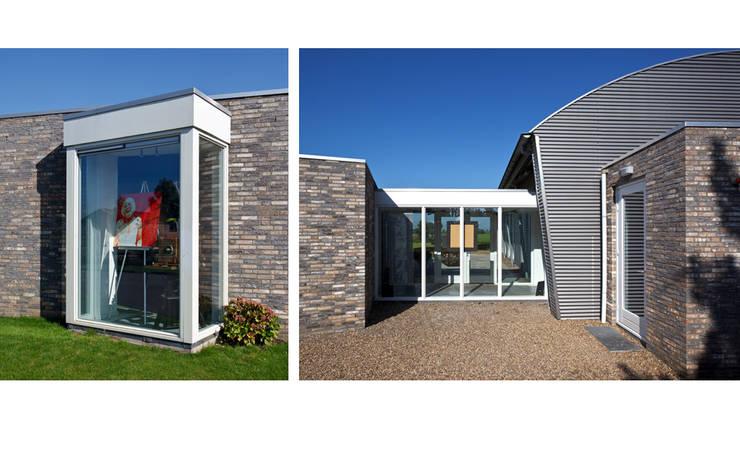 Fotostudio Janssen Colour Art Photo te Macharen:  Exhibitieruimten door  Ariens cs, Architecten & Ingenieurs, Modern