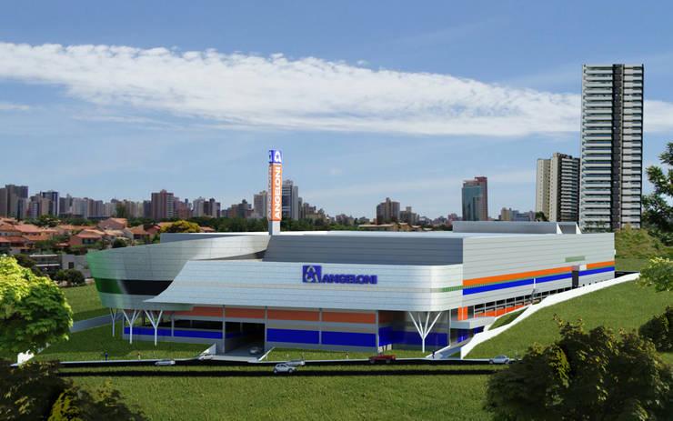 Super Center Angeloni Londrina : Espaços comerciais  por Douglas Piccolo Arquitetura e Planejamento Visual LTDA.,
