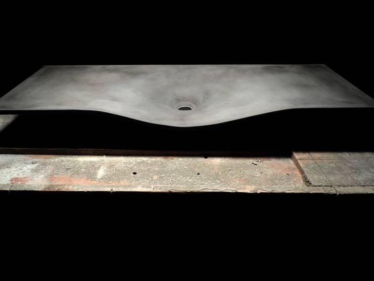 Drop Down Concrete Sink :  Bathroom by Forma Studios