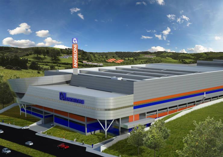 Super Center Angeloni Londrina: Espaços comerciais  por Douglas Piccolo Arquitetura e Planejamento Visual LTDA.,