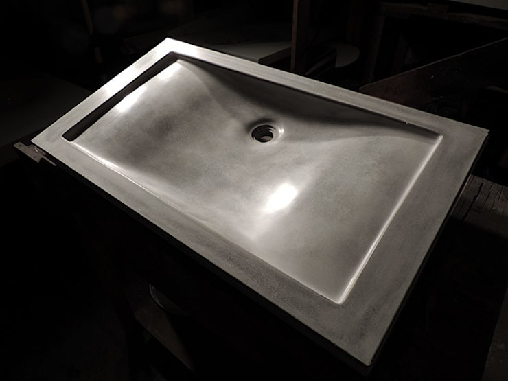 Concrete Wave Sink :  Bathroom by Forma Studios