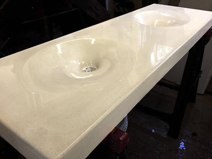Twin Concrete Infinity Sink :  Bathroom by Forma Studios