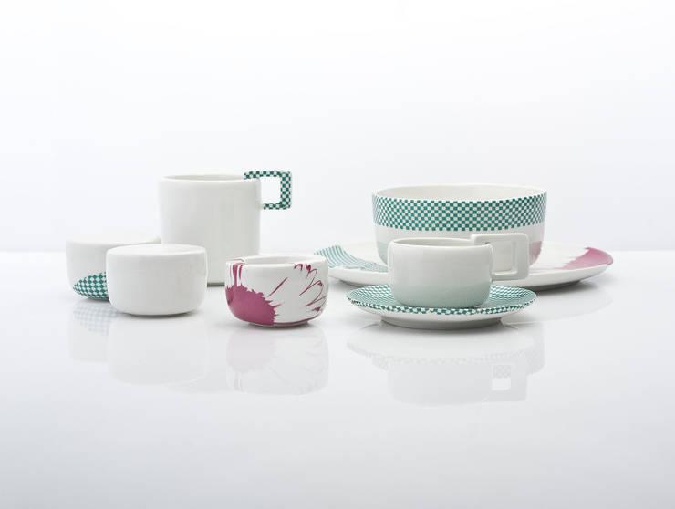 Single set - mops zielony: styl , w kategorii Kuchnia zaprojektowany przez mopsdesign
