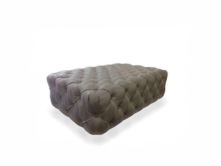 bespoke ottoman:  Living room by Chandler Upholstery