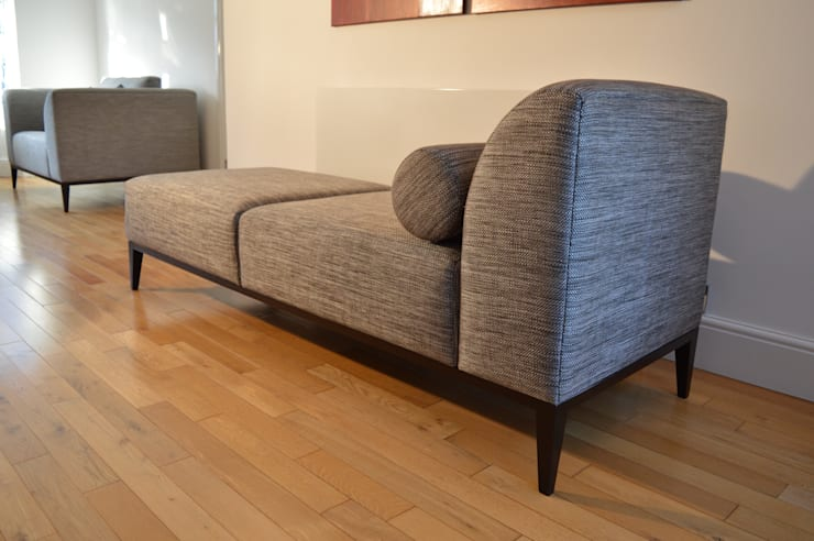 Chaise lounge :  Living room by Chandler Upholstery