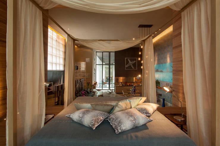 Denise Barretto Arquitetura:  tarz Yatak Odası