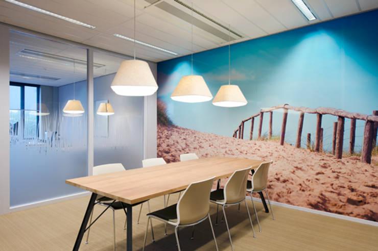 Ijmond werkt:  Kantoorgebouwen door MHS Ontwerpt, Modern