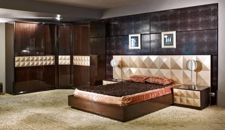Bosart Mobilya Sanayi Ve Ticaret Ltd. Şti. – Pramit yatak odası: modern tarz Yatak Odası