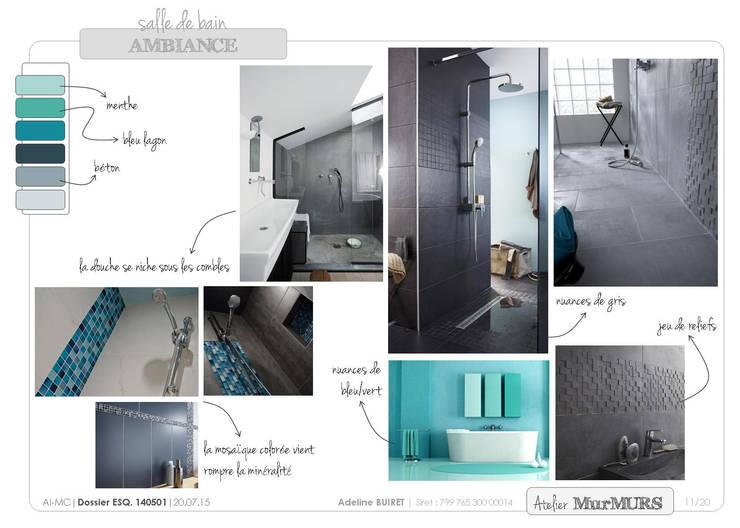 Salle de bain sous combles von Atelier MurMURS   homify