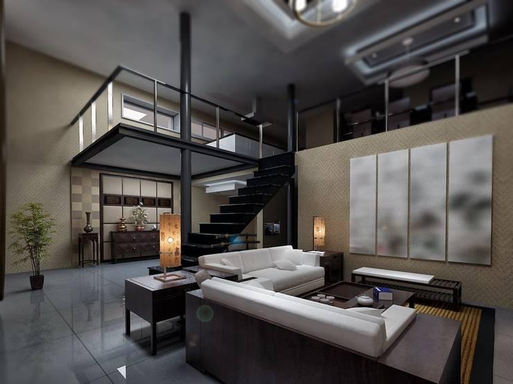 cihat özdemir – villa salon tasarımı:  tarz