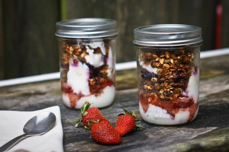 mason jar ontbijtje:   door Mason Jar Kitchen, Landelijk