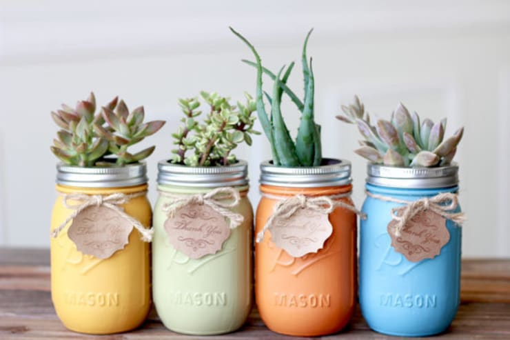 Mason Jar Kitchen의  실내 조경
