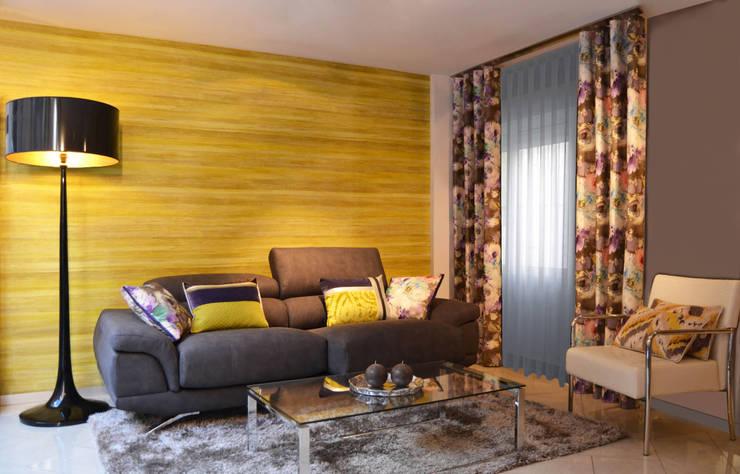 Salón con nuevas tendencias para primavera/verano: Salones de estilo moderno de Villalba Interiorismo