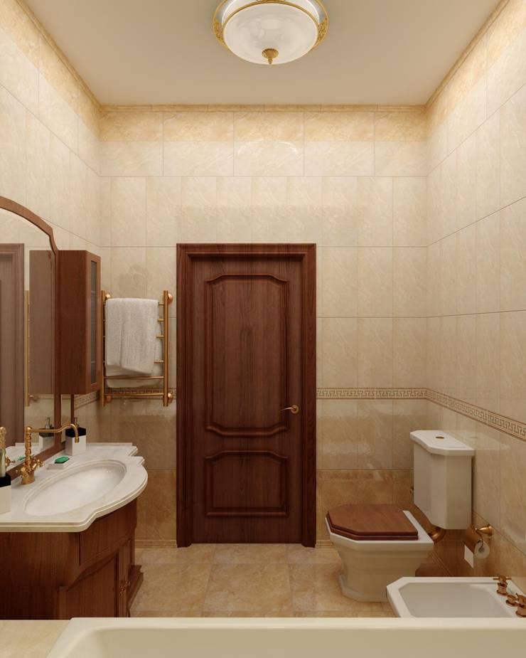 Ванная комната в классическом стиле.: Ванные комнаты в . Автор – Цунёв_Дизайн. Студия интерьерных решений.