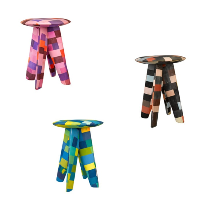 Flip-Flop stools recycled mix  :  Woonkamer door Diederik Schneemann