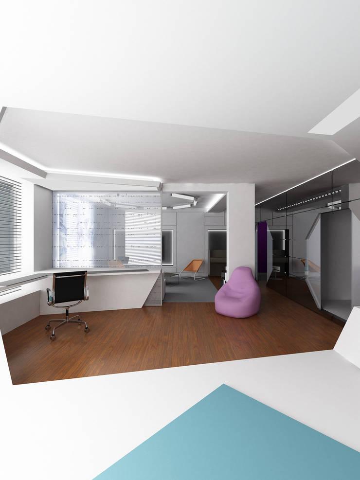 Кабинет: Рабочие кабинеты в . Автор – (DZ)M Интеллектуальный Дизайн