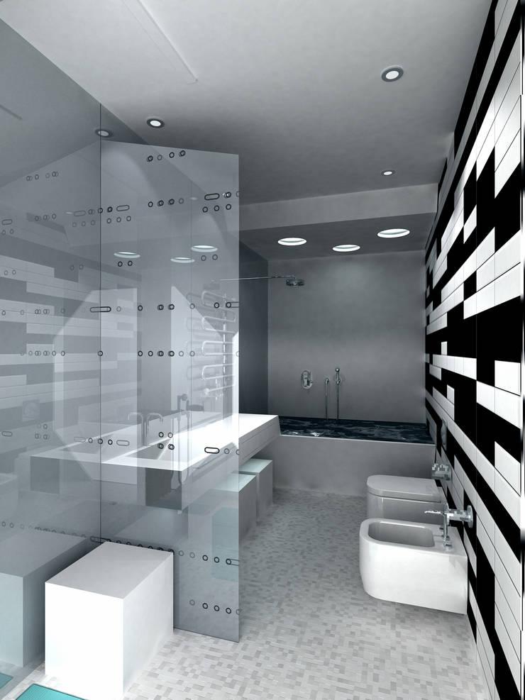 Ванная комната: Ванные комнаты в . Автор – (DZ)M Интеллектуальный Дизайн