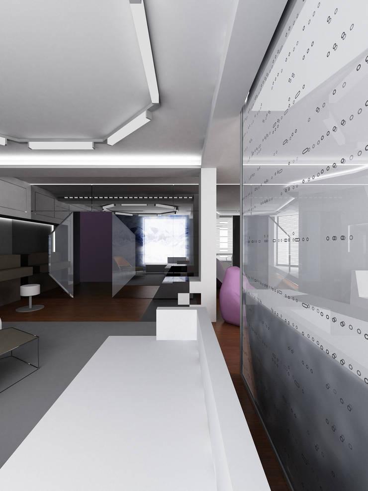 Гостиная: Гостиная в . Автор – (DZ)M Интеллектуальный Дизайн