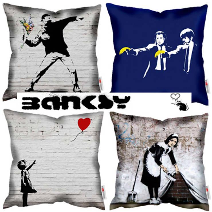 Poduszki BANKSY: styl , w kategorii Salon zaprojektowany przez Decodore basic