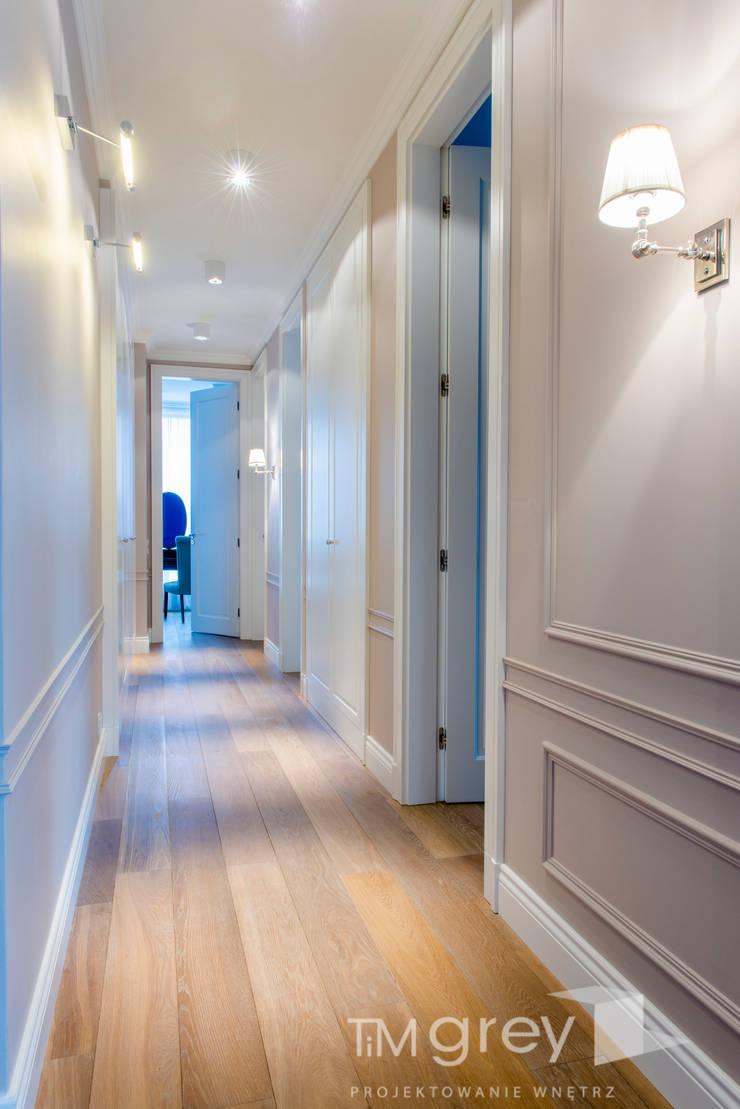 NY Style Apartment : styl , w kategorii Korytarz, przedpokój zaprojektowany przez TiM Grey Interior Design