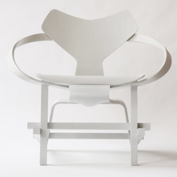 3D printed Mash up Chair:  Kunst  door Diederik Schneemann