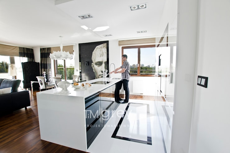 Glamur Apartment 110m2: styl , w kategorii Kuchnia zaprojektowany przez TiM Grey Interior Design