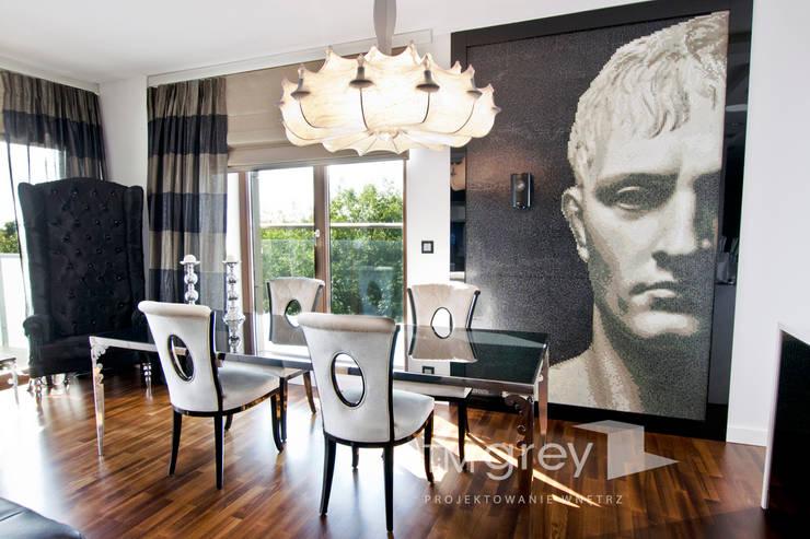 Glamur Apartment 110m2: styl , w kategorii Jadalnia zaprojektowany przez TiM Grey Interior Design