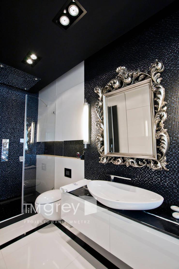 Glamur Apartment 110m2: styl , w kategorii Łazienka zaprojektowany przez TiM Grey Interior Design