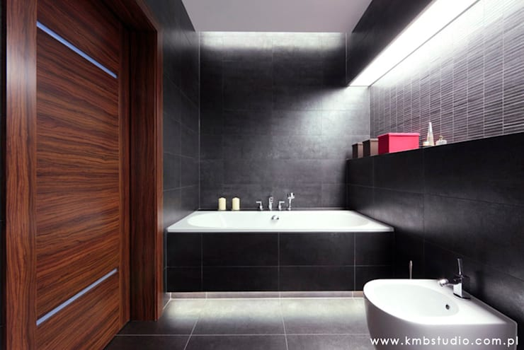 mieszkanie  Wilanów: styl , w kategorii Łazienka zaprojektowany przez kmb studio,Nowoczesny