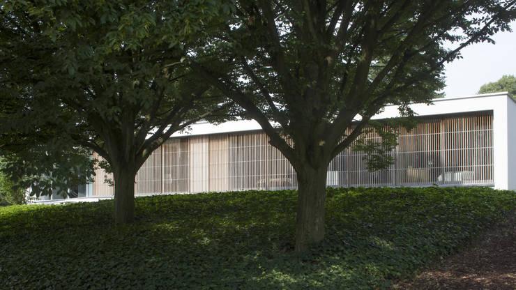 Eigentijdse bungalow:  Huizen door Lab32 architecten, Modern