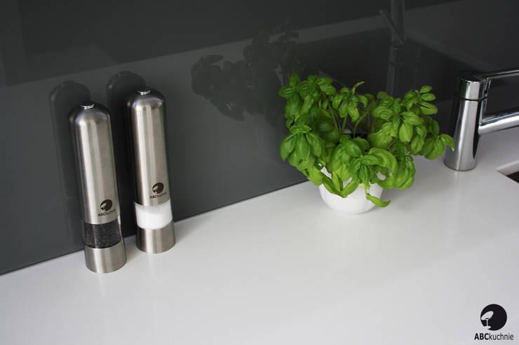 Kuchnia w stylu minimalistycznym. Apartament Gdański: styl , w kategorii Kuchnia zaprojektowany przez ABC kuchnie
