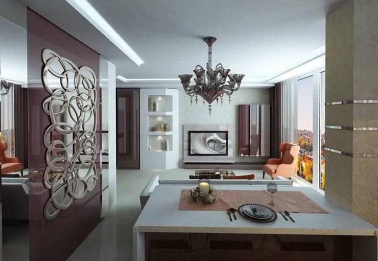 Гостинная: Гостиная в . Автор – Studio Design-rise