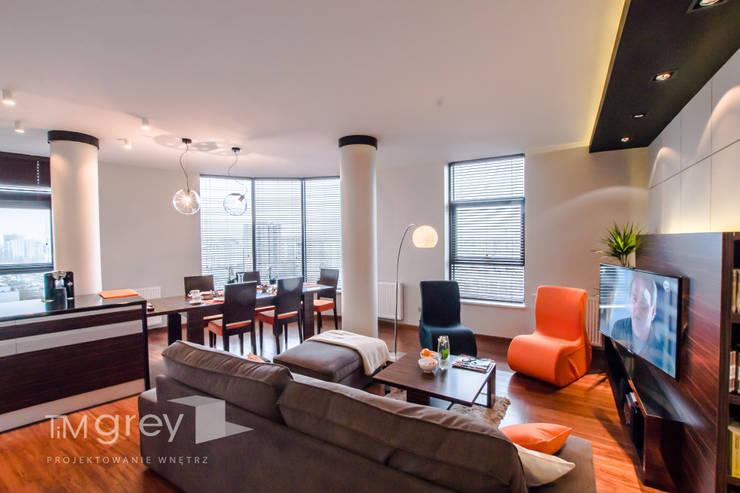 Modern Flat 69m2: styl , w kategorii Salon zaprojektowany przez TiM Grey Interior Design