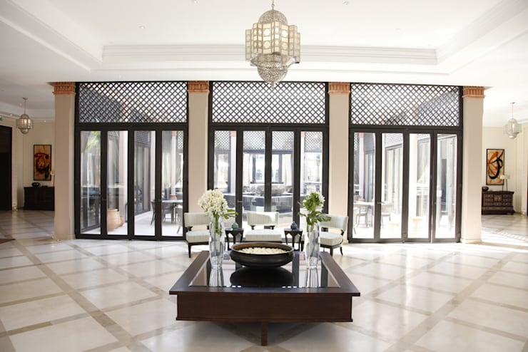 Four Seasons Hotel— Marrakech:  Corridor, hallway & stairs by Moroccan Bazaar