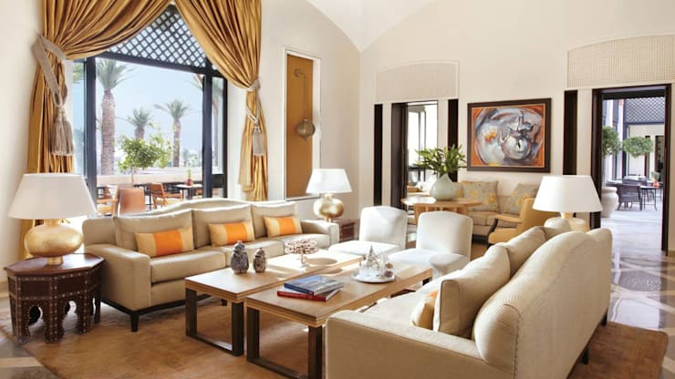 Four Seasons Hotel— Marrakech:  Living room by Moroccan Bazaar