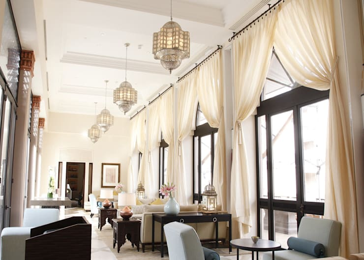 Four Seasons Hotel— Marrakech:  Dining room by Moroccan Bazaar