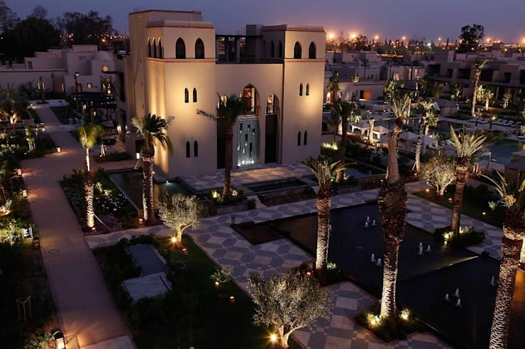 Four Seasons Hotel— Marrakech:  Garden  by Moroccan Bazaar