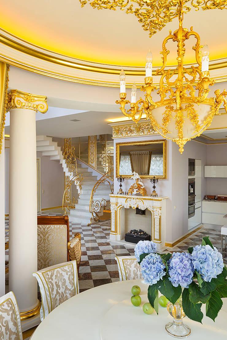 Дом в Песочном: Гостиная в . Автор – Privilege Design, Классический